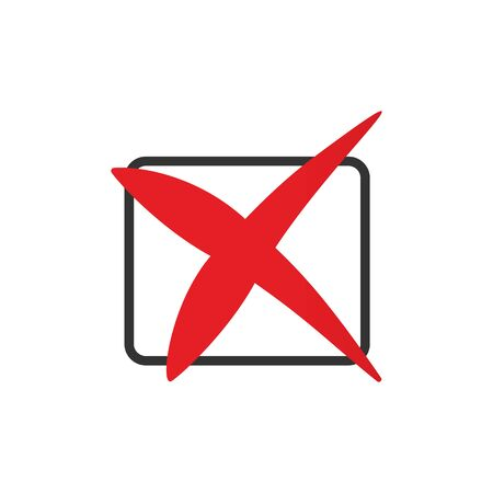 Red cross icon in the checkbox.