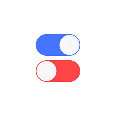 Enable and disable position toggle icons illustration