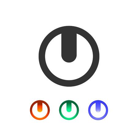 Set of power leds. Toggle display icons illustration Illustration