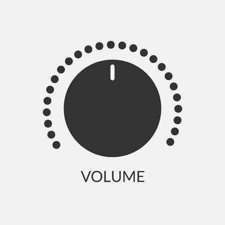 Digital-Lautstärkeregler-Soundleistungsreglerillustration