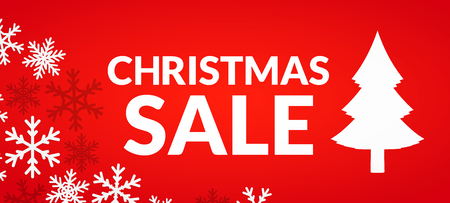 Cristmas sale - festive give-away banner design illustration