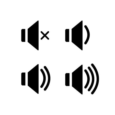 Set of volume loudspeaker icons. Ilustração