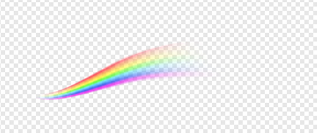Rainbow line illustration isolated on transparent background Vectores