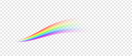 Rainbow line illustration isolated on transparent background Illustration
