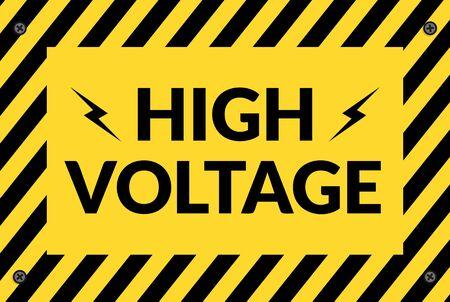 Switchboard high voltage sign illustration for design