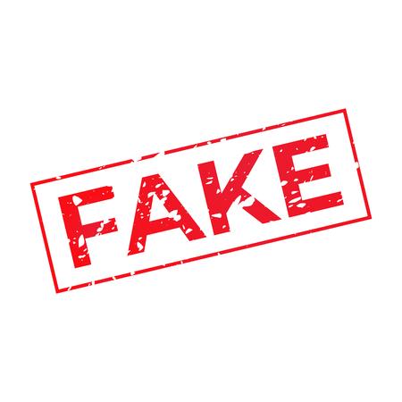 Fake grunge red stamp illustration.