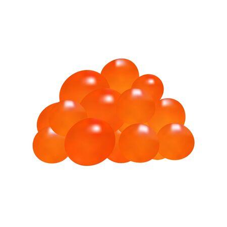 Fish eggs. Red caviar. Nature protein illustration