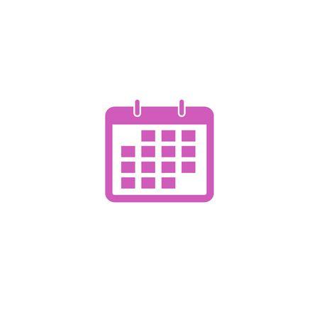 Simple calendar ui icon illustration isolated on background