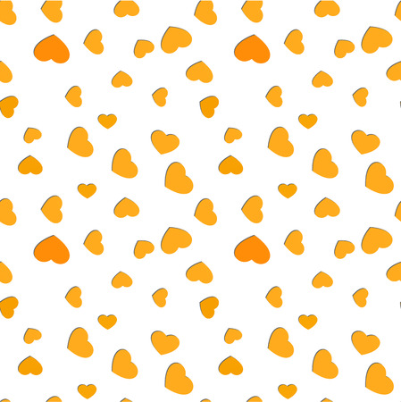 Seamless scattered hearts pattern. Valentines day vivid love background Illustration