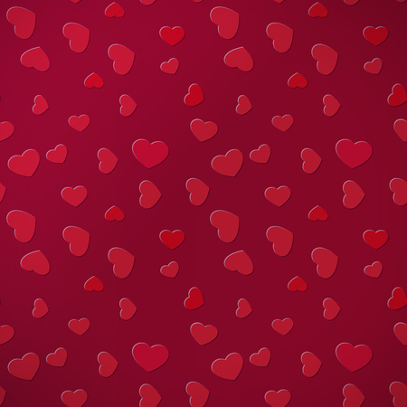 Red saturated heart background for holiday and events illustration.