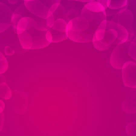 Saint Valentines vivid heart framing background illustration. Illustration