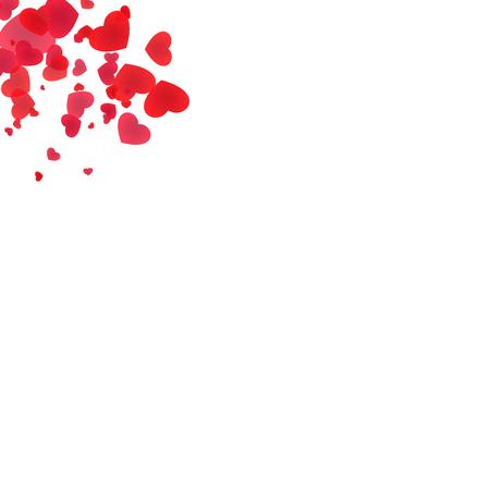 Red hearts corner design Illustration