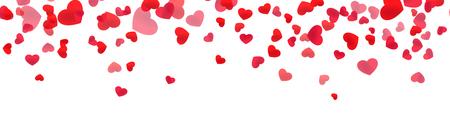 Festive heart banner design. St. Valentine's day decoration