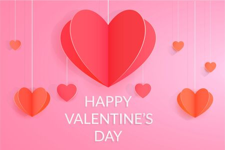 Happy Valentines day bright leaflet background design