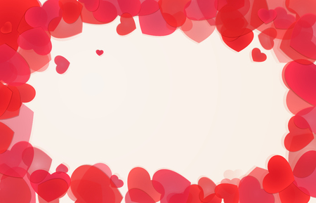 Saint Valentines heart frame. Love sign background Illustration