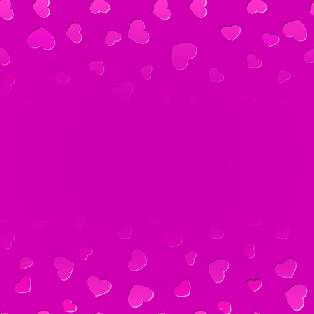 Fading hearts background for St. Valentines day