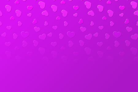 Fallende verblassende klare rosa Herzhintergrundillustration