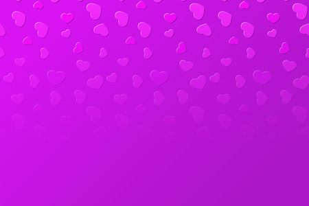 Falling fading vivid pink hearts background illustration Illustration