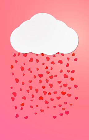 Vivid love leaflet design for St. Valentines day or other design