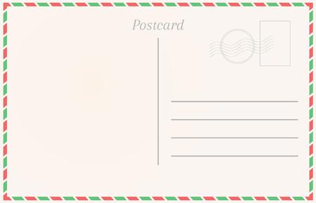 Realistic postcard. Postal card illustration for design