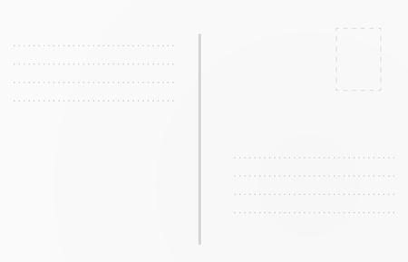 Briefkaart achtergrond sjabloon. Briefkaart illustratie voor ontwerp Stock Illustratie