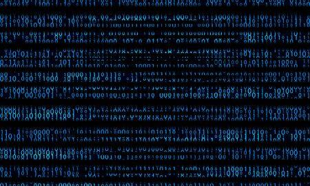 Blue binary domain code. Digital numbers illustration