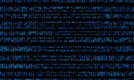 Blue binary domain code. Digital numbers illustration