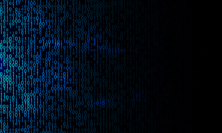 Blue binary background. Modern network algorithm illustration