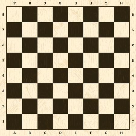 Plansza do gry w szachy. Ilustracja tło drewniana szachownica Ilustracje wektorowe