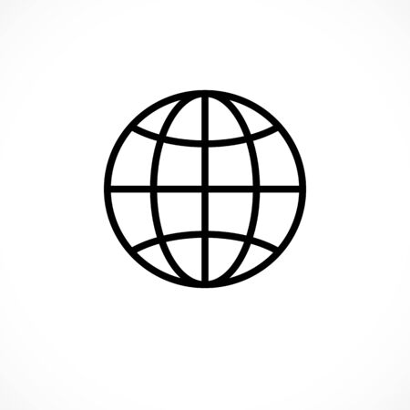 Worldwide internet icon. Globe sign. Planet  icon for sites Illustration