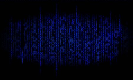 Binary blue. Matrix background. Binary digital code backdrop Illustration