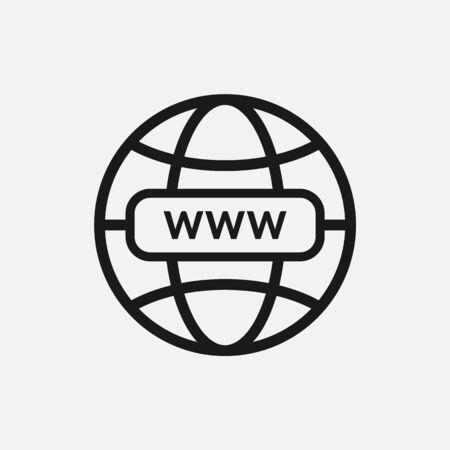 WWW internet fav icon icon illustration for design. Vettoriali