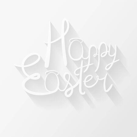 Happy Easter text with egg-shaped A letters Illustration