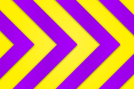 Vivid purple background with bright saturated yellow arrows Illustration