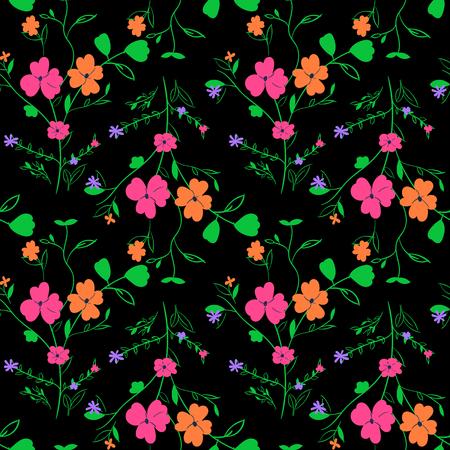デザインのための美しいシームレスな花の織物パターン