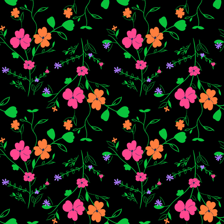 Beautiful seamless floral textile pattern for design