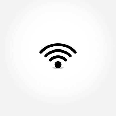 Simple internet signal icon illustration Vectores