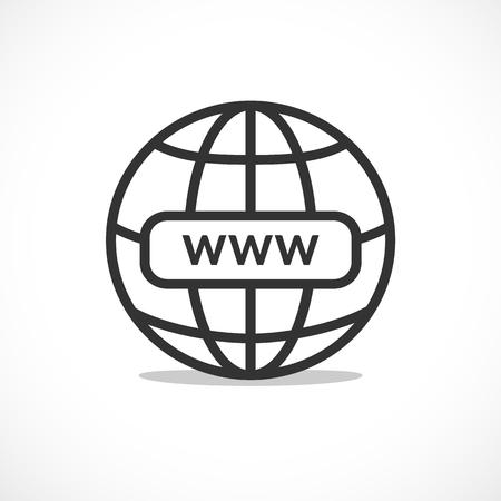 WWW internet favicon icon illustration for design Illustration