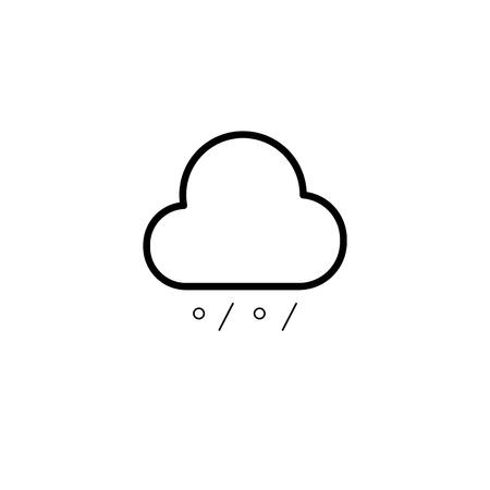 Simple cloud, rain and snow line icon Illustration