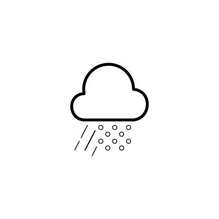 Simple cloud, heavy rain and snow line icon Illustration