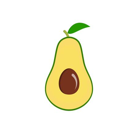 Juicy ripe sliced avocado fruit with seed inside