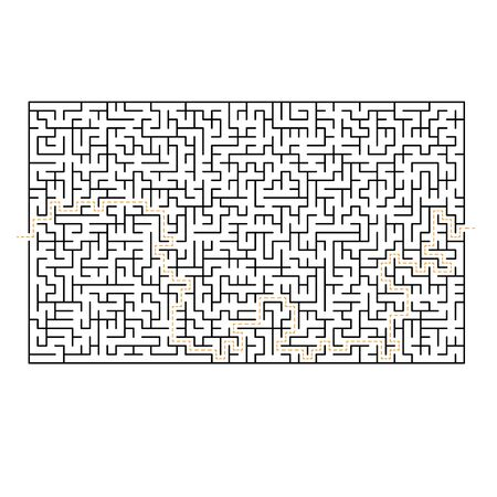 Big difficult maze labyrinth game isolated on white background