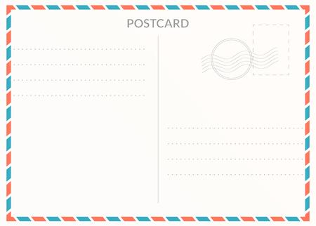 Simple blank postal card illustration for design Illustration