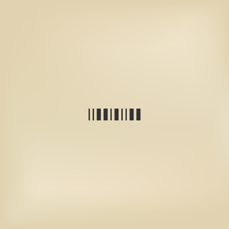 Stripped label code. Simple barcode icon illustration