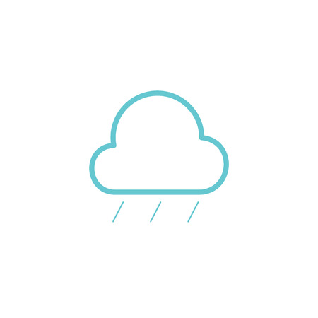 Simple cloud and hard rain line icon Illusztráció