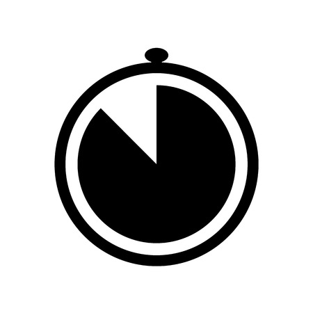 Simple stopwatch icon. Time clock symbol illustration