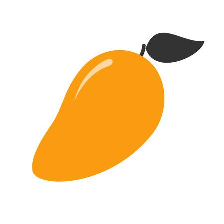 Simple mango fruit illustration. Healthy food icon for design Vektoros illusztráció