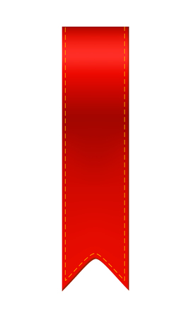 Red bookmark ribbon. Simple bookmarker icon illustration Vectores