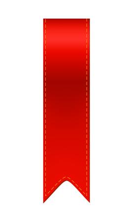 Red bookmark ribbon. Simple bookmarker icon illustration Illustration