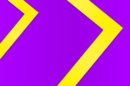Simple violet background with geometric yellow elements for design Ilustração